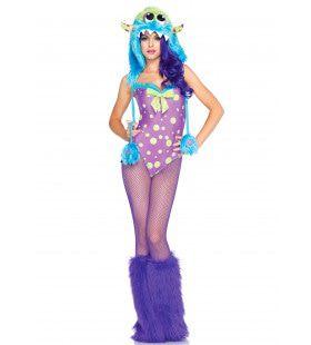 Funky Sexy Monsterkostuum Met Bodysuit En Muts Vrouw Kostuum