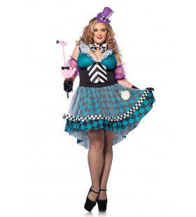 Halloween Mad Hatter Jurk (Plus Size) Vrouw