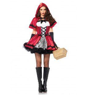 Gothic Roodkapje Sexy Jurk Vrouw