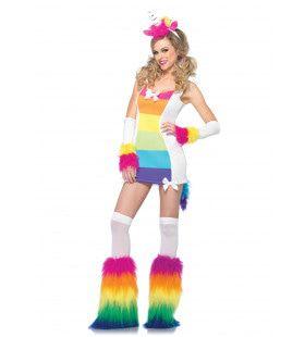 Polycolor Eenhoorn Kostuumset Vrouw