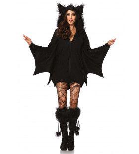 Donkere Vrouwelijke Vleermuis Jurk