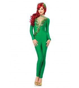 Groene Feeks Sexy Catsuit Vrouw Kostuum