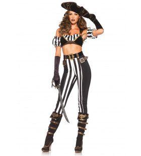 Spannende Pirate Ms Vloedgolf Vrouw Kostuum