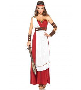Spartaanse Godin Lang Ms Knossos Vrouw Kostuum