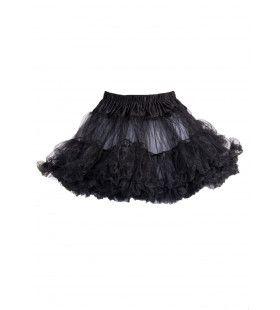 Basic Petticoat Met Twee Lagen Zwart