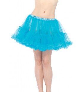 Basic Petticoat Met Twee Lagen Aqua
