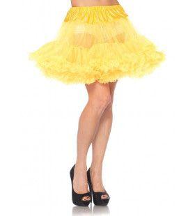 Basic Petticoat Met Twee Lagen Geel
