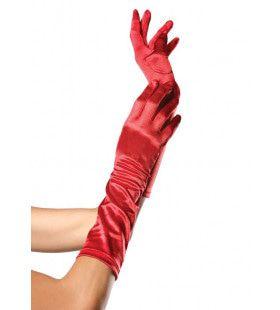 Satijnen Handschoenen Tot Elleboog Rood