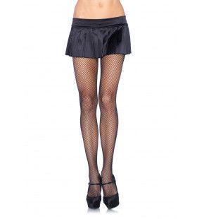 Nylon Visnet Panty Zwart (Plus Size)