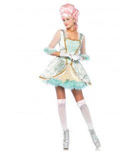 Franse Hofdame Marie Antoinette Vrouw Kostuum