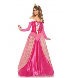 Prinses Aurora Lange Roze Jurk Vrouw