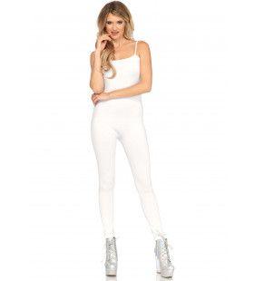 Elegante Witte Unitard Jumpsuit Meisje Kostuum