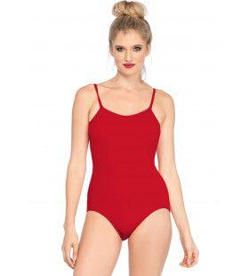 Body Lage Rug Rood Vrouw Kostuum