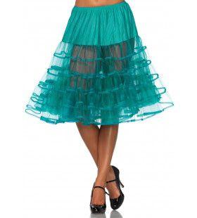 Knielange Petticoat Twist Donker Groen
