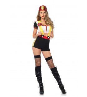 Loeiheet Brandweer Vrouw Kostuum