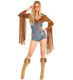 Boho Babe Vrouw Kostuum