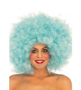 Volle Afro Pruik Blauw