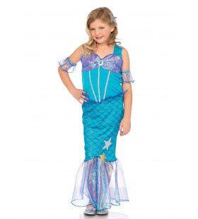 Lieftallig Zeemeermin Meisje Kostuum