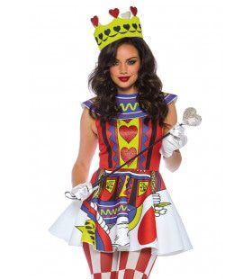 Speelkaart Wonder Hartenkoningin Vrouw Kostuum