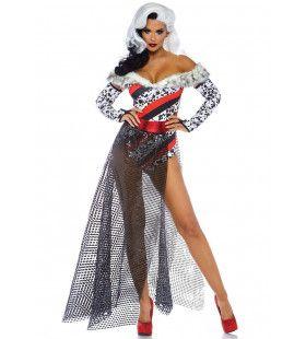 Zwoele Dalmatier Dame Vrouw Kostuum