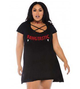 Fangtastic Slagtand Vampier Plus Size Vrouw Kostuum