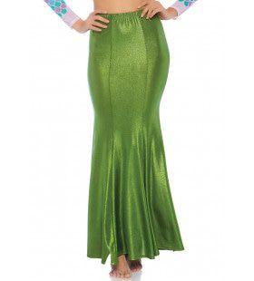 Glimmende Spandex Zeemeermin Rok Groen Alg Plus Size Vrouw
