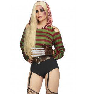 Griezelig Opwindende Nachtmerrie Freddy Krueger Vrouw Kostuum