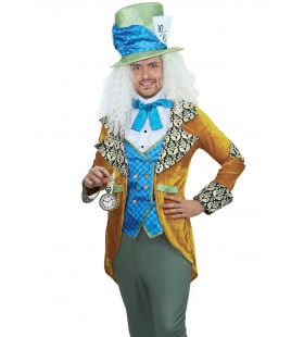 Krankzinnig Knotsgek Mad Hatter Man Kostuum