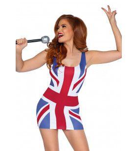 Spice Up Je Leven Britse Vlag Vrouw Kostuum