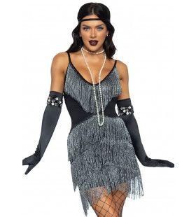 Jaren 20 Luxe Flapper Klapper Vrouw Kostuum