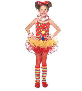 Meisjes Circus Clown Polka Jurk