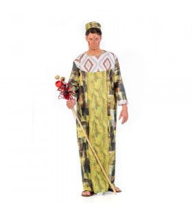 Rijk Gouden Afrikaanse Koning Van Togo Man Kostuum