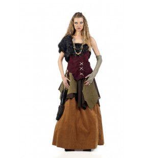 IJskoude Wrede Viking Deluxe Vrouw Kostuum