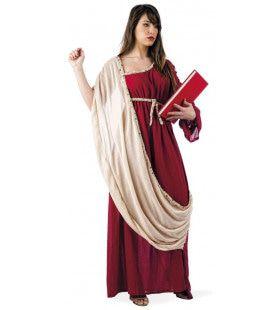 Klassieke Romeinse Filosoof Vrouw Kostuum