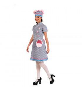 Professionele Banket Bakker Taarten Vrouw Kostuum