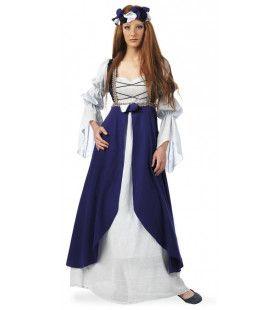Kasteelvrouwe Middeleeuwen Slot Loevenstein Kostuum