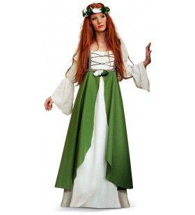 Betoverende Middeleeuwse Spookjes Bos Prinses Vrouw Kostuum
