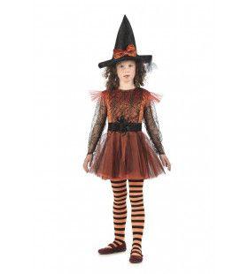 Magische Pompoen Heks Halloween Meisje Kostuum