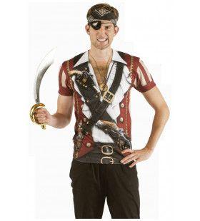 Musket T-Shirt Onverschrokken Zeerover Man