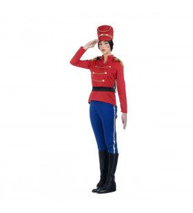 Tinnen Soldaat Garde Regiment Paleiswacht Vrouw Kostuum