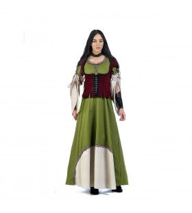 Middeleeuwse Gegoede Burgerij Holland Vrouw Kostuum