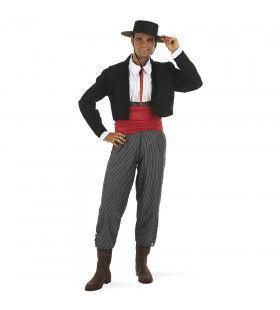 Trotse Spaanse Flamenco Muzikant Cordoba Man Kostuum
