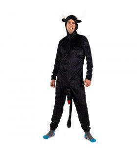 Wilde Zwarte Spaanse Torro Fokstier Man Kostuum