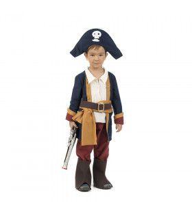 Kleine Kaper Kapitein Caraibische Zee Jongen Kostuum