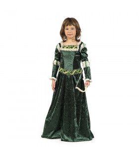 Lady Marion Prinses Uit Robin Hood Engeland Meisje Kostuum
