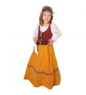 Vrolijke Kleuren Viking Hedda Leifsdottir Meisje Kostuum