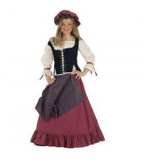 Serveerster Middeleeuwse Herberg De Draak Meisje Kostuum