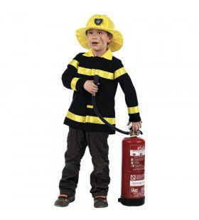 Gaan Als De Brandweer Blus Kind Kostuum