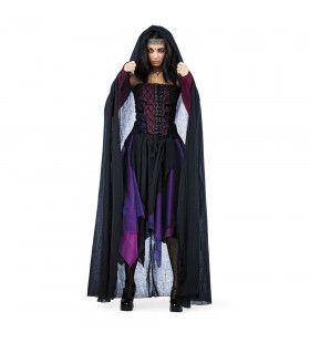 Zwarte Cape Griselda Gothica Vrouw