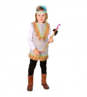 Sluipende Poema Californie Indiaan Wilde Westen Kind Kostuum